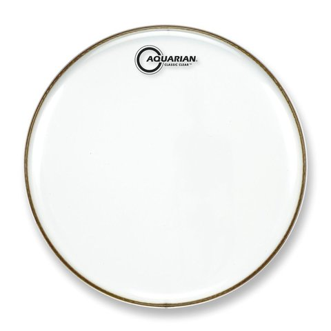 "Aquarian Classic Clear Series 13"" Snare Bottom Drumhead"