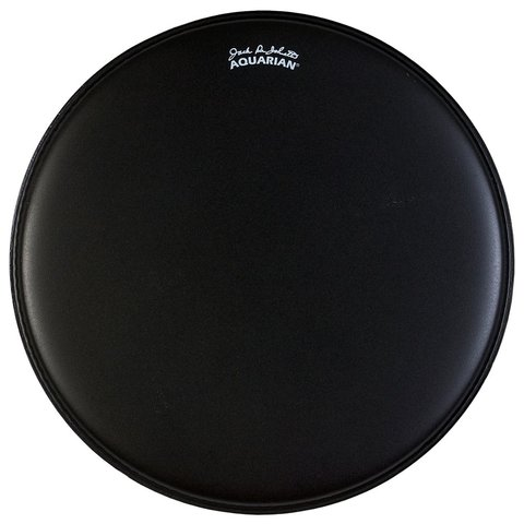 "Aquarian Texture Coated 18"" Bass Drumhead - Black"