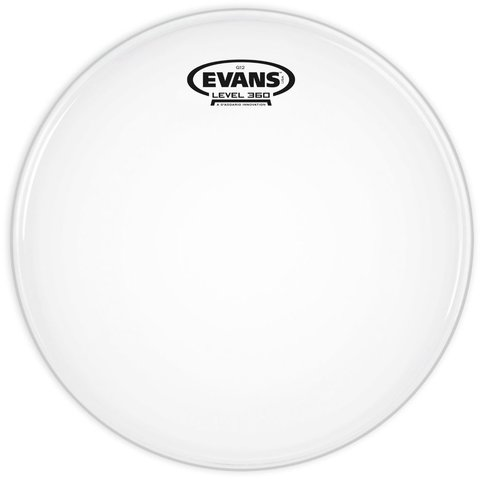 "Evans G12 Coated White 15"" Drumhead"