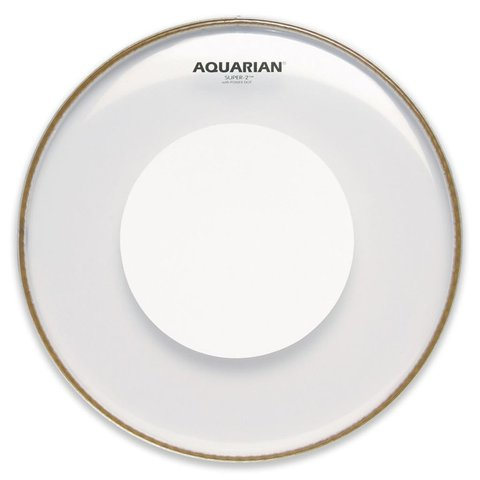 "Aquarian Super-2 Series 14"" (2-Ply) Drumhead with Power Dot"
