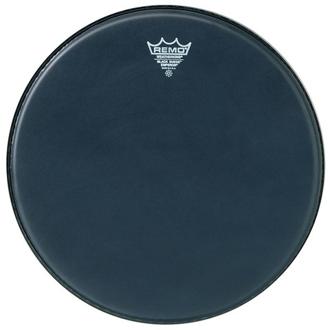 """Remo Black Suede Emperor 16"""" Diameter Batter Drumhead"""