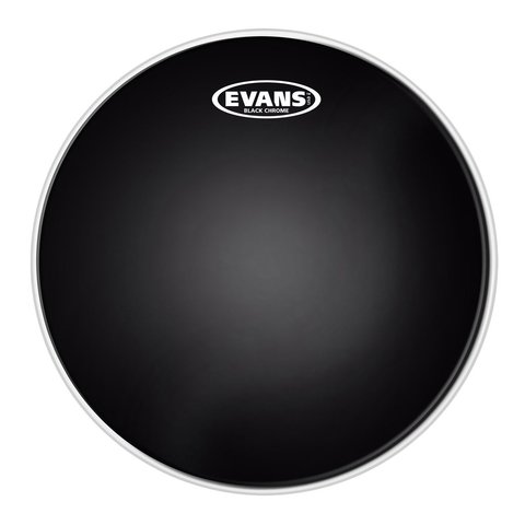 "Evans Black Chrome 18"" Batter Tom Drumhead"