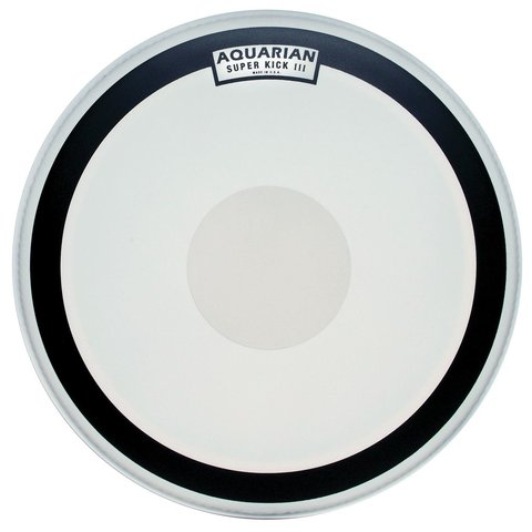 "Aquarian Super-Kick Series Texture Coated 24"" (1-Ply) Drumhead with Power Dot"