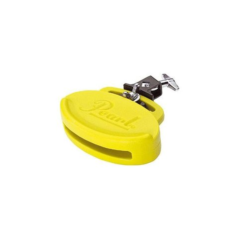 Pearl Medium Clave Block w/Holder (Neon Yellow)