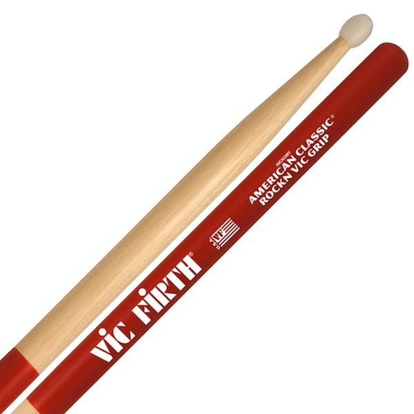 Vic Firth Vic Firth American Classic - RockN - Nylon Tip Drumsticks with Vic Grip
