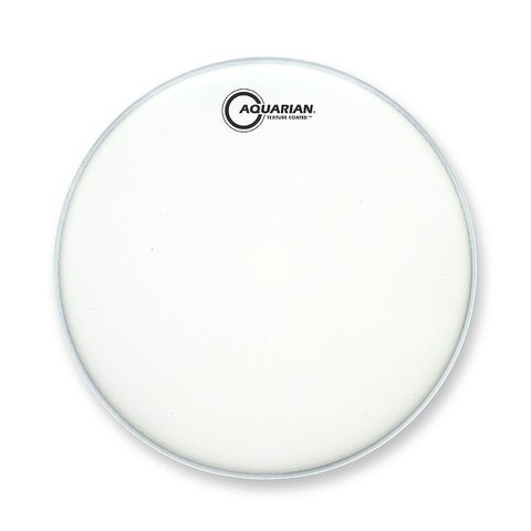 "Aquarian Force I Series Texture Coated 10"" Drumhead Satin Finish - White"