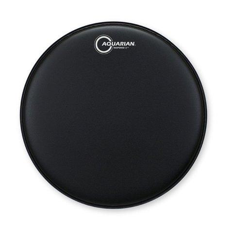 "Aquarian Response 2 Series Texture Coated 10"" (2-Ply) Drumhead - Black"