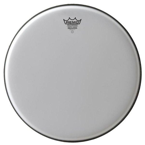 "Remo Remo White Suede Ambassador 14"" Diameter Batter Drumhead"
