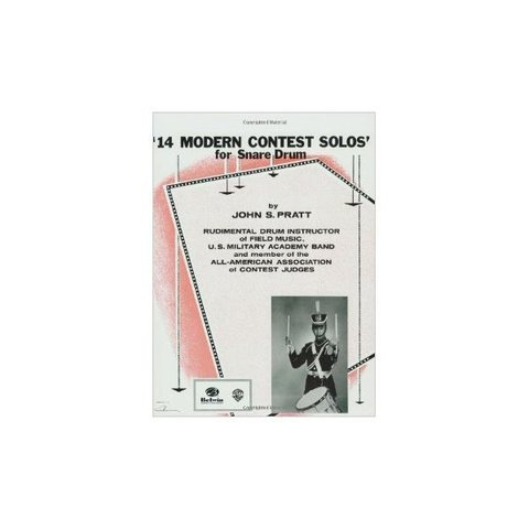14 Modern Contest Solos for Snare Drum by John S. Pratt; Book