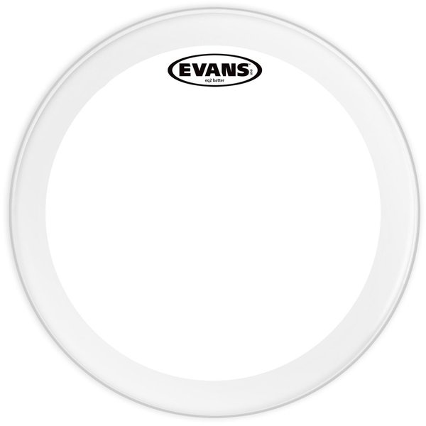 """Evans Evans EQ2 Clear 18"""" Bass Drumhead"""