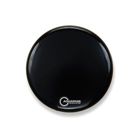 "Aquarian Aquarian Front 18"" Bass Drumhead with Ring - Black"