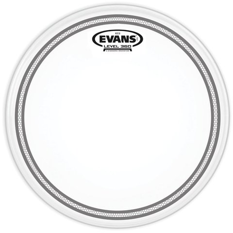 "Evans EC2 Coated SST 12"" Tom Drumhead"