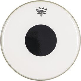 """Remo Remo Clear Controlled Sound 22"""" Diameter Bass Drumhead - Black with Dot on Top"""