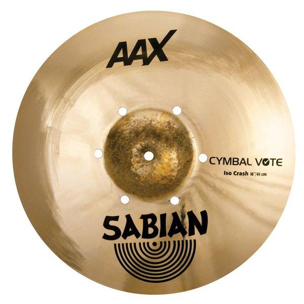 """Sabian Sabian AAX 16"""" Iso Crash Cymbal"""