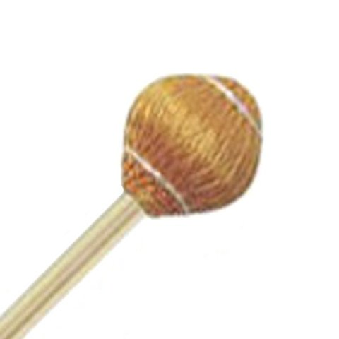 "Mike Balter 21R Pro Vibe Series 15 1/2"" Hard Yellow Cord Marimba/Vibe Mallets with Rattan Handles"
