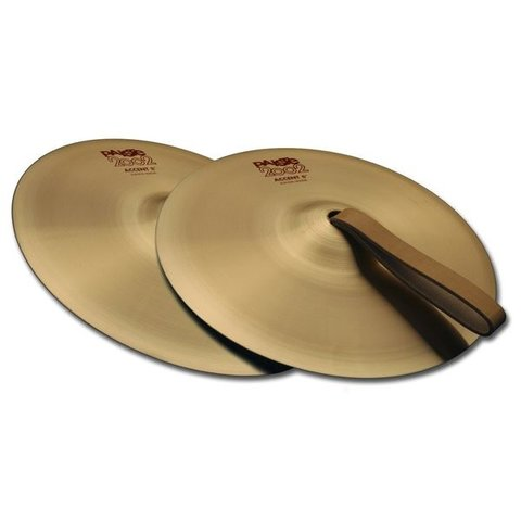 "Paiste 2002 Classic 08"" Accent Cymbal Pair With Leather Strap"