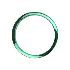 Bass Drum O's Bass Drum O's 2 Green Chrome Drum O's/Tom Ports (2-Pack)