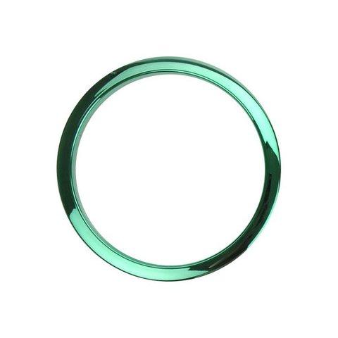 Bass Drum O's 2 Green Chrome Drum O's/Tom Ports (2-Pack)
