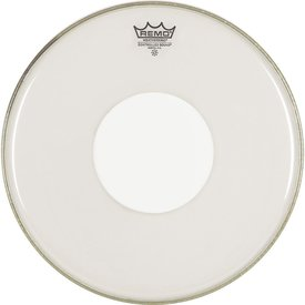 """Remo Remo Clear Controlled Sound 14"""" Diameter Batter Drumhead - White Dot on Top"""