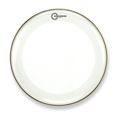 "Aquarian Force I Series 20"" Bass Drum Batter Head and KP1 Drumhead - Clear"