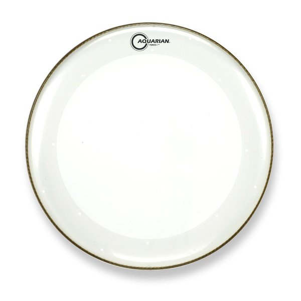 "Aquarian Aquarian Force I Series 20"" Bass Drum Batter Head and KP1 Drumhead - Clear"
