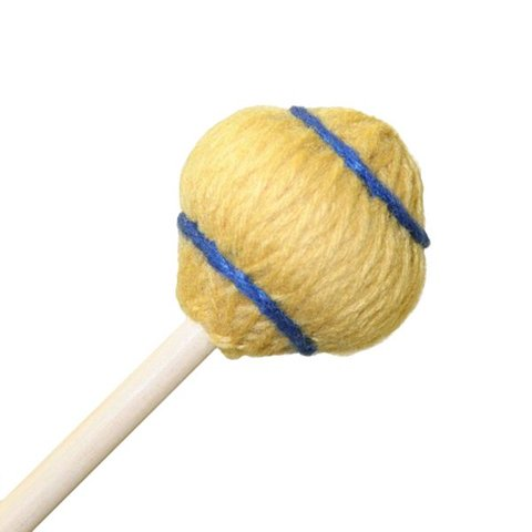 "Mike Balter 33R Wide Bar Series 12 3/4"" Soft Gold Yarn Vibe Mallets with Rattan Handles"