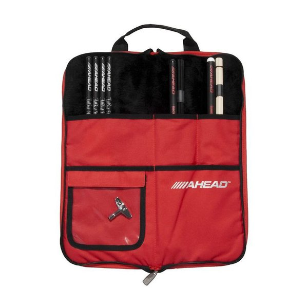 Ahead Ahead Deluxe Stick Bag (Black with Red Trim, Red Interior, Plush interior)
