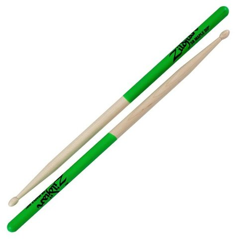 Zildjian 5B Dip Series Maple Green Drumsticks