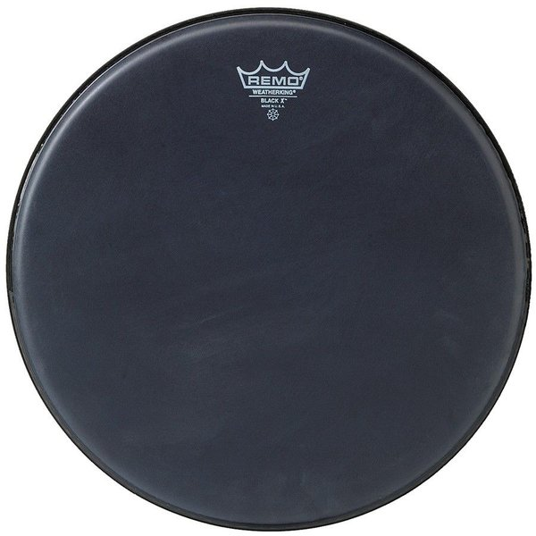 "Remo Remo Black x 12"" Diameter Batter Drumhead - Black Dot Bottom"