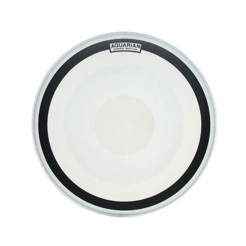 "Aquarian Impact III Series Texture Coated 20"" (1-Ply) Drumhead with Power Dot and Ring"