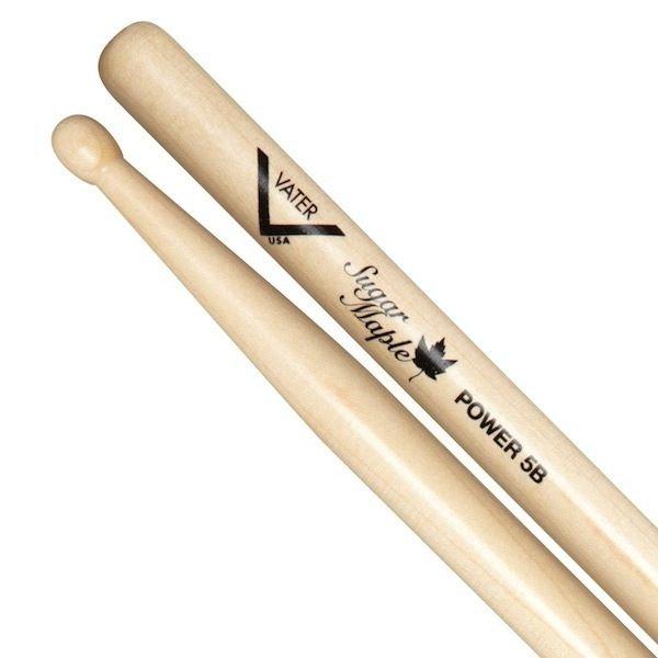 Vater Vater Sugar Maple Power 5B Wood Tip Drumsticks