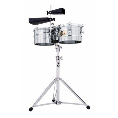 LP Stainless Steel Timbalitos with Stand