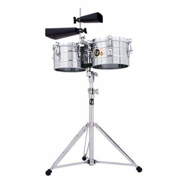 LP LP Stainless Steel Timbalitos with Stand