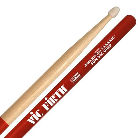 Vic Firth American Classic - 5BN - Nylon Tip Drumsticks with Vic Grip