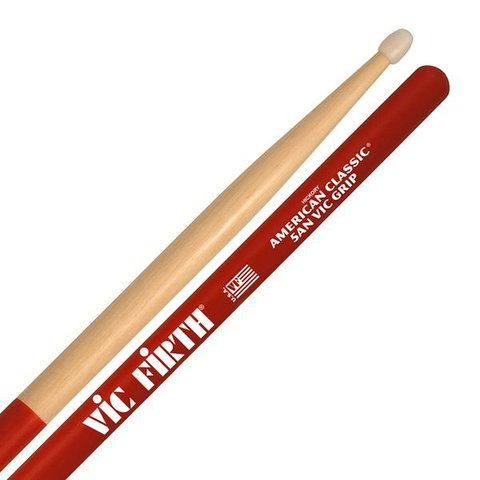 Vic Firth American Classic - 5AN - Nylon Tip Drumsticks with Vic Grip