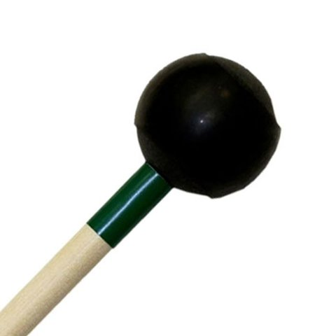 "Mike Balter 172R Latex Covered Series 16 1/4"" Medium Hard Rubber Ball with 1/32"" Latex Marimba Mallets with Rattan Handles"