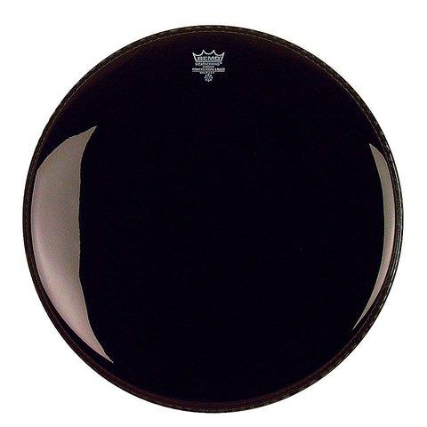 "Remo Ebony Powerstroke 3 24"" Diameter Bass Drumhead with 5"" Black Dynamo"