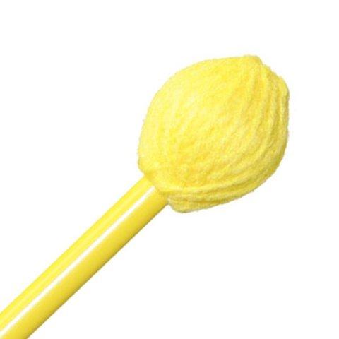 "Mike Balter BB1 Balter Basics 16 1/2"" Hard Yellow Yarn Marimba/Vibe Mallets with Yellow Birch Handles"