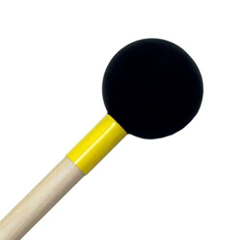 "Mike Balter 171R Latex Covered Series 16 1/4"" Hard Solid Rubber Ball Marimba Mallets with Rattan Handles"