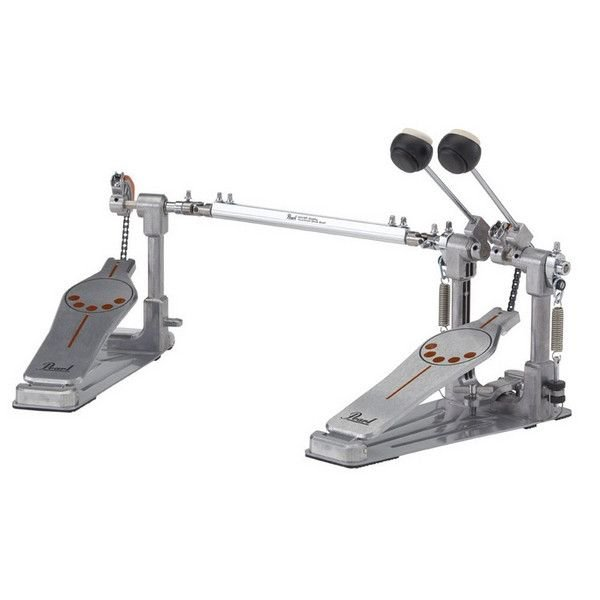 Pearl Pearl Demonator Series Single-Chain Drive Double Bass Drum Pedal with Demon Style Long Footboard