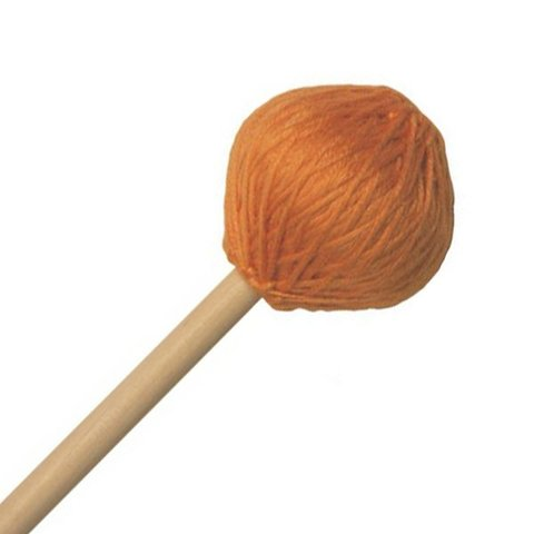 "Mike Balter 216B Chorale Series 17 5/8"" Extra Soft Orange Microfiber Marimba Mallets with Birch Handles"