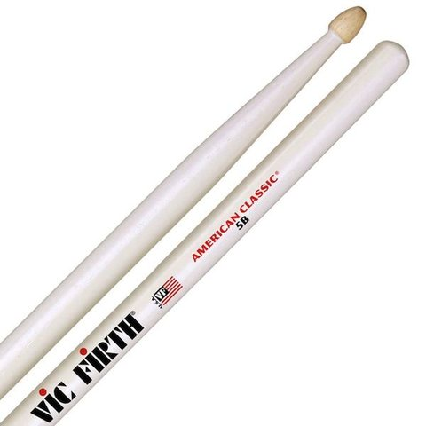 Vic Firth American Classic - 5B Drumsticks with White Finish
