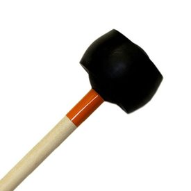 "Mike Balter Mike Balter 175R Latex Covered Series 16 1/4"" Soft Rubber Ball with 3/16"" Latex Marimba Mallets with Rattan Handles"