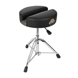 """Carmichael Throne 15"""" Black Vinyl Hydraulic Drum Throne"""