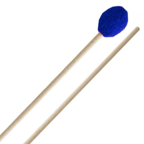 Innovative Percussion Very Hard Marimba Mallets - Electric Blue Yarn - Birch