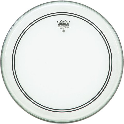 "Remo Clear Powerstroke 3 24"" Diameter Bass Drumhead"
