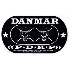 Danmar Danmar Double Kick Bass Drum Impact Pad- Skull Graphic