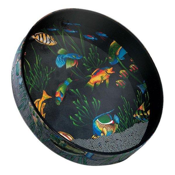 Remo Remo Ocean Drum 16 Diameter 2 1/2 Depth - Fish Graphic