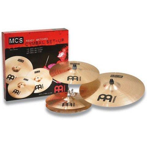 "Meinl MCS Cymbal Set, 14"" Hi Hat/16"" Crash/20""Ride, incl.upgraded Classics 16"" China"