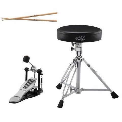 Roland V-Drums Accessory Package - kick pedal, throne & sticks